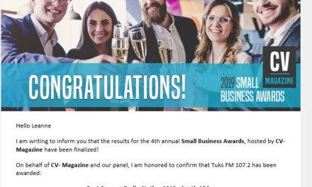Tuks FM wins international Small Business Award
