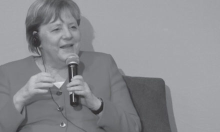 Dr Angela Merkel in conversation with UP students
